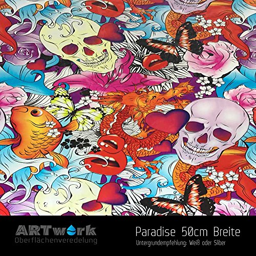 Wassertransferdruck WTD Design Folie ARTwork Paradise 50cm Breite