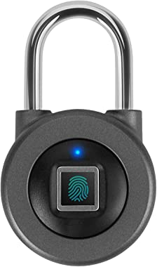 Fingerprint Padlock,AICase Bluetooth Thumbprint Lock,Support USB Charging IP67 Waterproof Smart Anti-Theft Keyless Lock Suita