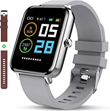 Smart Watch: All-Day HeartRate Activity Tracking,Waterproof,Full Touch Screen,Step Counter,Calorie Counter,Pedometer,Sleep Monitoring,Ultra-Long Battery Life, for iOS&Andriod