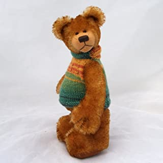 Rusty -Teddy Bear Gold and Brown Tipped Steiff Schulte Mohair Artist Collectable OOAK 10 inches