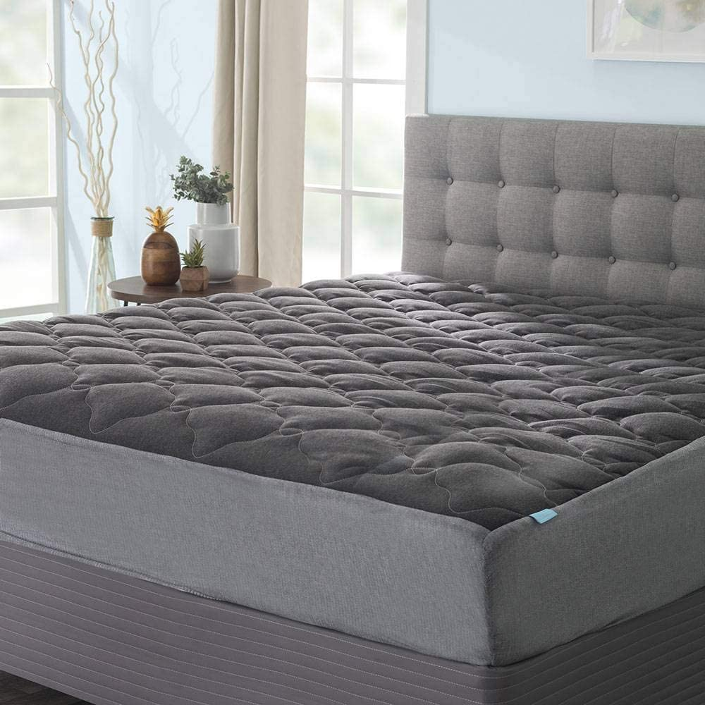 favorite eLuxurySupply Extra Plush Midnight Grey Mattress Max 83% OFF Fitted with Pad