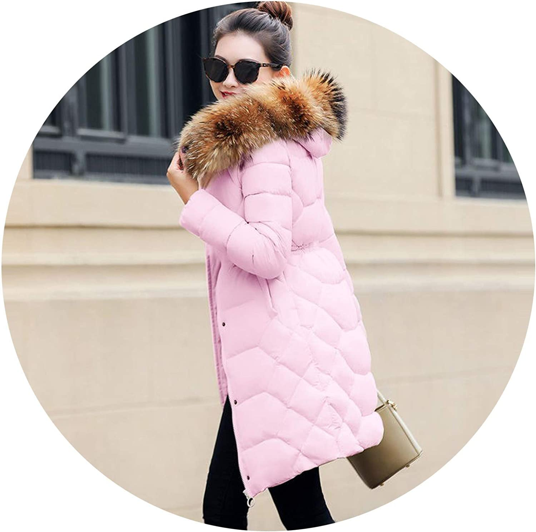 Friendshiy Real Fur Collar Parka Womens Winter Down Jacket Winter Jacket Women Thick Snow Wear Winter Coat