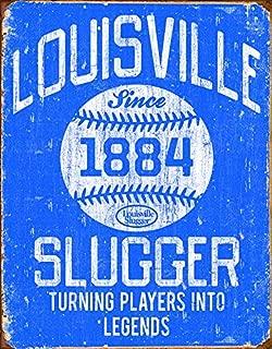 Desperate Enterprises Louisville Slugger Blue Tin Sign, 12.5
