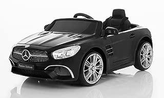 Wonderlanes 12V Ride On Mercedes Benz SL Class in Black, Battery Powered Wheels