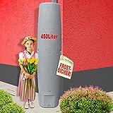 REGENTONNEN SÄULE 250l / 450l / 700l - das schlanke REGENFASS! REGENSPEICHER REGENBEHÄLTER. KOMPAKT und PRAKTISCH mit viel Volumen auf KLEINSTER Stellfläche