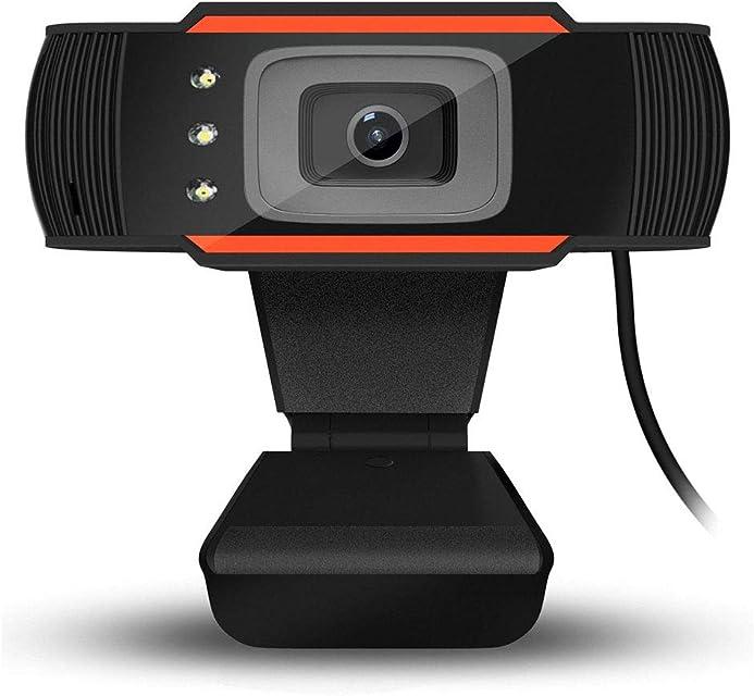 HENGKANG USB2.0 Cámara Web videoconferencias y grabaciones de vídeo Full HD 640 * 480 Resolución Micrófono IntegradoNegro