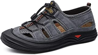 HXSD Men's Shoes, Sandals Outdoor lace-Water Non-Wearing feet, Durable (Color : Gray, Size : 8.5 UK)