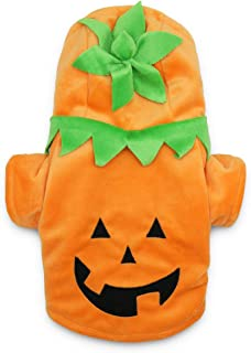 DroolingDog Pet Dog Pumpkin Costume Halloween Clothes for Small Dogs