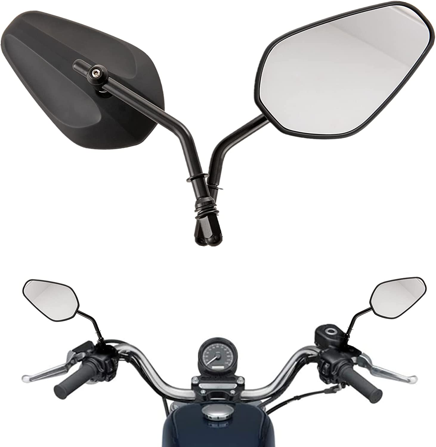 Motorcycle Side Mirrors Rear Special price for a limited time View Stem Mirror Over item handling ☆ Angle Long