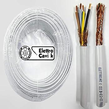 Besser Cavo Elettrico Multipolare Isolante Impianti elettrici Tubazione Antincendio Schermato Matassa 100 metri FROH2R 3x1