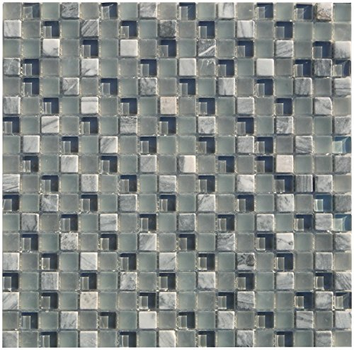 Combimozaïek tegels grijze wand vloer douche toilet keuken | 10 matten | Type: es-57160_f