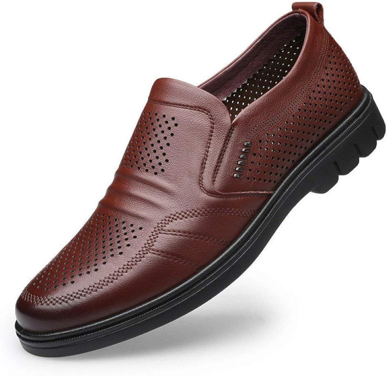 Fuxitoggo New Men's Business Suit Leather shoes Crocodile Pattern Leather Men's shoes Fashion Lace Up Men's shoes (color   Brown, Size   44)