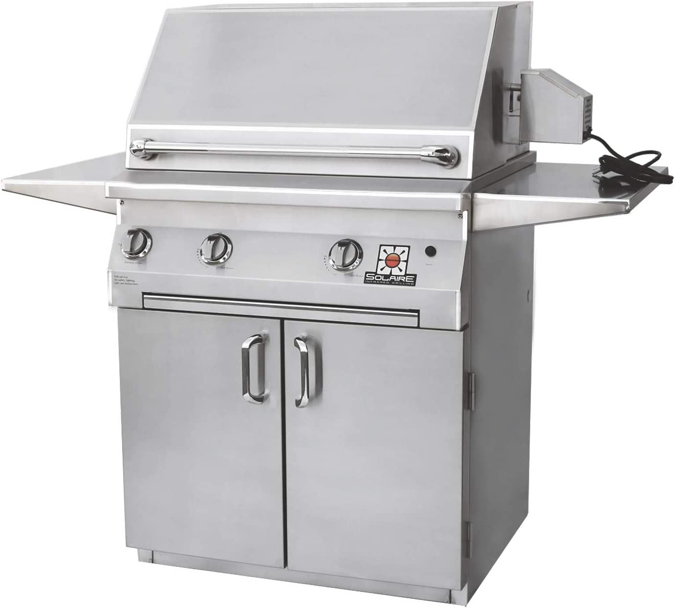 Solaire Deluxe Convection Freestanding Grill Popularity with safety Rotisserie SO