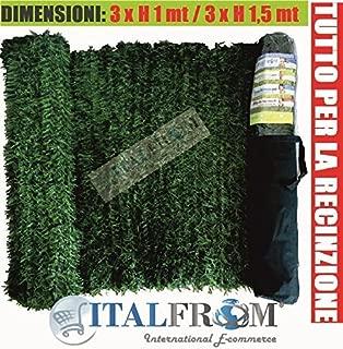 ITALFROM Haie Synth/étique Artificielle synth/étique Arelle Feuilles d Lierre /à carrelage 50/x 50/4986