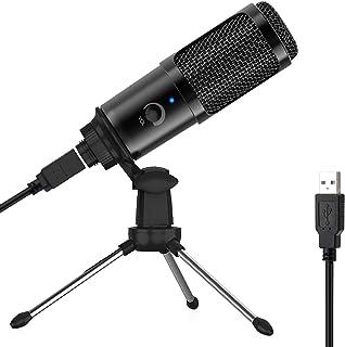 میکروفن USB برای رایانه - میکروفن ضبط کننده خازن فلزی برای MAC لپ تاپ یا Windows Cardioid Studio ضبط آواز ، صدای صوتی ، پخش جریانی و فیلم های YouTube