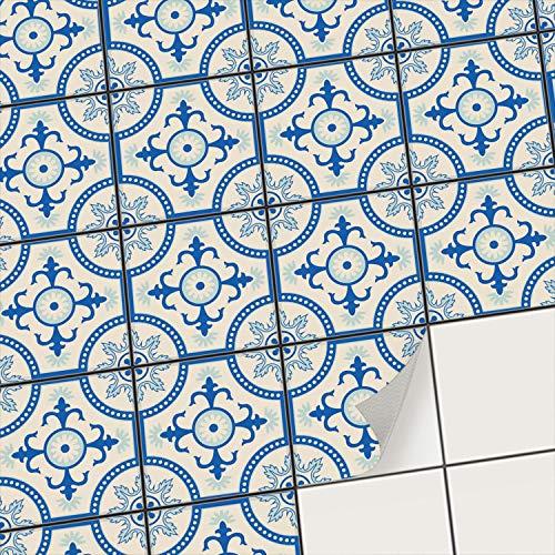 creatisto Klebefliesen Stickerfliesen Fliesenfolie - Klebe Folie für Wandfliesen I Klebefliesen Deko Folien für Fliesen in Küche u. Bad/Badezimmer (10x10 cm I 9 -Teilig)