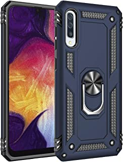WindCase Galaxy A50 Case, Dual Layer Tough Rugged Ring Holder Stand Armor Shockproof Drop Protection Case Cover for Samsung Galaxy A50 Blue