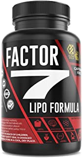 Factor 7 Lipo Formula – Ultra-Concentrate Fat Burner Dietary Supplements – Caffeine Free with African Mango Extra, Green T...