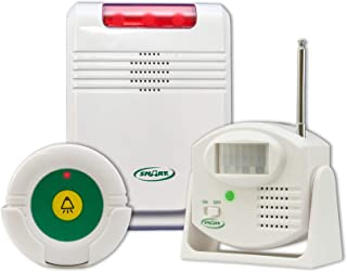 Smart Caregiver Monitor with Motion Sensor and Remote Reset Button - Passive Monitoring so You Know When They Need Help