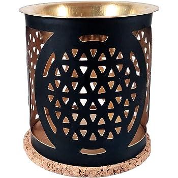 Aromafume Flower of Life Exotic Brass Oil Burner (Use for Essential Oil, Aroma Oil, Diffuser Oil, SPA, Yoga, Meditation, Home Fragrance)