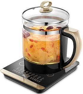 JINRU Multi-Functional Health Pot Decocting Pot Glass Health Pot Mini Tea Cooker Electric Kettle to Boil Water Smart Insulation Pot,Black