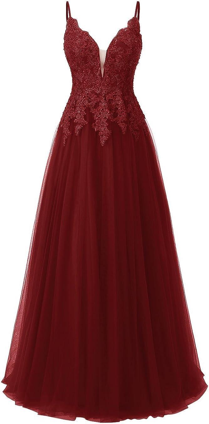 Vestido de noche de encaje para mujer, para boda, elegante vestido de novia, tirantes finos, vestido de baile