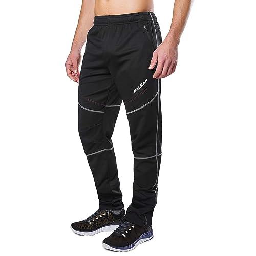 3b34084948c2 Baleaf Men s Bike Cycling Pants Winter Running Windproof Fleece Thermal  Pants Multi Sports Active