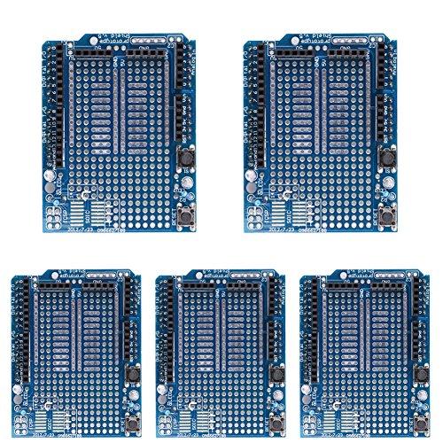 Demiawaking 5x Mini Breadboard Prototyping Prototyp Schild ProtoShield für Arduino UNO