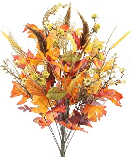 "Admired By Nature ABN3B003-GDOR-MIX- Artificial Autumn Flowers/Maple Leaves/Berries Fall Festive Harvest Display, 25"", Gol..."