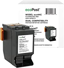 ecoPost Brand Replacement Postage Meter Cartridge for Quadient Hasler ISINK4HC, IMINK4HC, 4145711Y, ININK67HC | Red, 2.4 x...