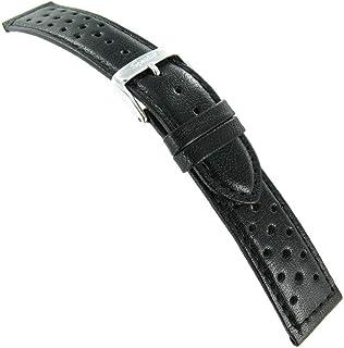 19mm Speidel Black Genuine Calfskin Leather Mens Driving Band Regular 5010 620