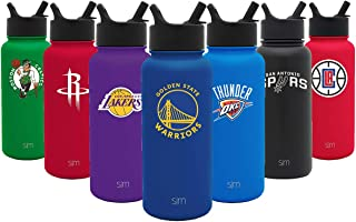 NBA & College 32oz Summit Water Bottle with Straw Lid - 18/8 Vacuum Insulated Stainless Steel