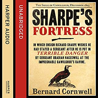 Sharpe's Fortress: The Siege of Gawilghur, December 1803 (The Sharpe Series, Book 3)                   Auteur(s):                                                                                                                                 Bernard Cornwell                               Narrateur(s):                                                                                                                                 Rupert Farley                      Durée: 13 h et 24 min     26 évaluations     Au global 4,8