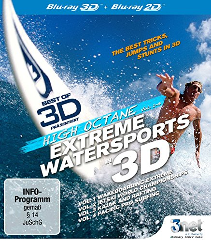 Best of 3D - High Octane: Extreme Water Sports 3D [3D Blu-ray] Wakeboarding - JetSki - Kajak - Rafting - Surfing [Blu-ray]