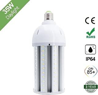 35W LED Corn Light Bulb, E26 Medium Screw Base, 6500K Daylight White 3600 Lumens, 200 Watt Equivalent Metal Halide Replacement for Indoor Outdoor Large Area Lighting, HID, CFL, HPS