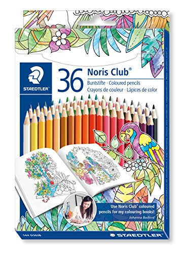 Staedtler 144 D36JB Noris Club Farbstiftetui (36 ST im Johanna Basford-Design)