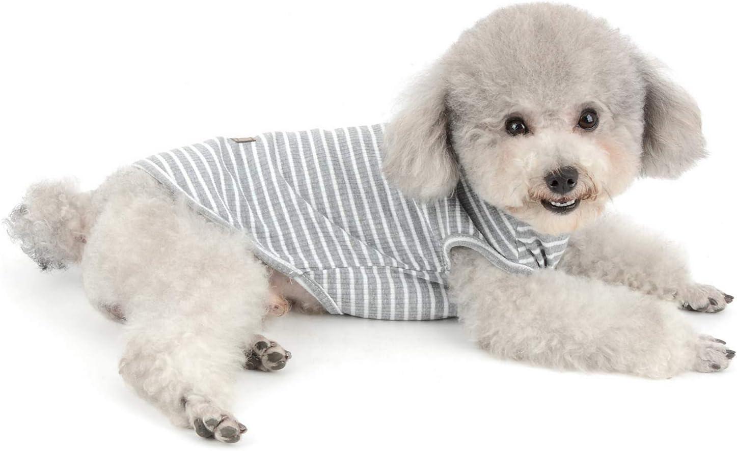 SELMAI T-Shirts f/ür Hunde Kleines Hemd Katzen Mode Streifen Weiche Baumwolle Kurzarm Weste Tanktop f/ür M/ädchen Jungen Welpen Yorkshire Terrier Chihuahua Kleidung Fr/ühling k/ühler Sommer