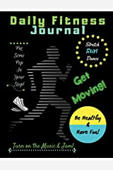 Daily Fitness Journal (Black Cover Kids Fun Exercise Guide Log Book for children) Paperback