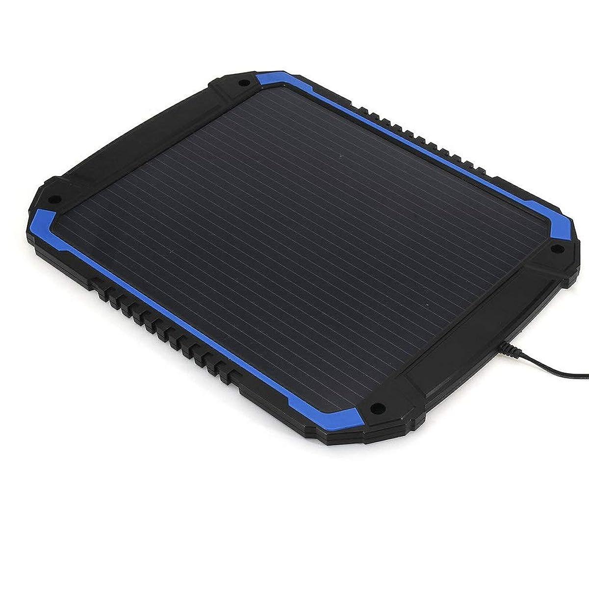 ミケランジェロ政策春ソーラーパネル 4.8W 18V自動車オートバイボートマリンRV用ポータブルソーラーパネルの発電充電器のバックアップその他、各種44x34cm (Color : Black, Size : 44x34cm)