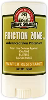 Brave Soldier Friction Zone Stick - .50 oz - Water & Sweat Resistant, Anti-Chafing Skin Protection, Rash Guard for Men and Women, Wetsuit Safe