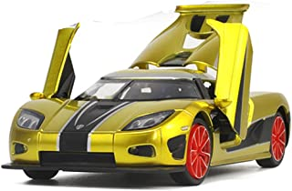 Yepmax Car Toys 1:32 Koenigsegg Model Cars Sound and Flash (Gold)
