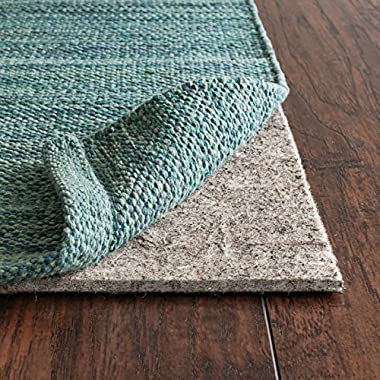 Rug Pad USA, 1/4  Thick, Felt and Rubber, 10'x13', Superior Lock- Premium Non Slip Rug Padding for Hardwood Floors