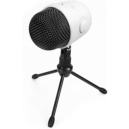 Amazon Basics Desktop Mini Condenser Mic Microphone - White
