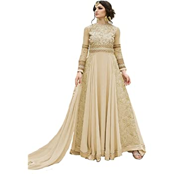 Amazon Com Ready To Wear Indian Pakistani Ethnic Designer Gown Evening Party Wear Stitching Available 7108 A Clothing