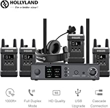 Full-Duplex Wireless Intercom System, 1000ft Range Support Dual-Device Cascade Connection for Studio/Stage Events/EFP/webcasting/Filmmaking, HOLLYLAND Mars T1000