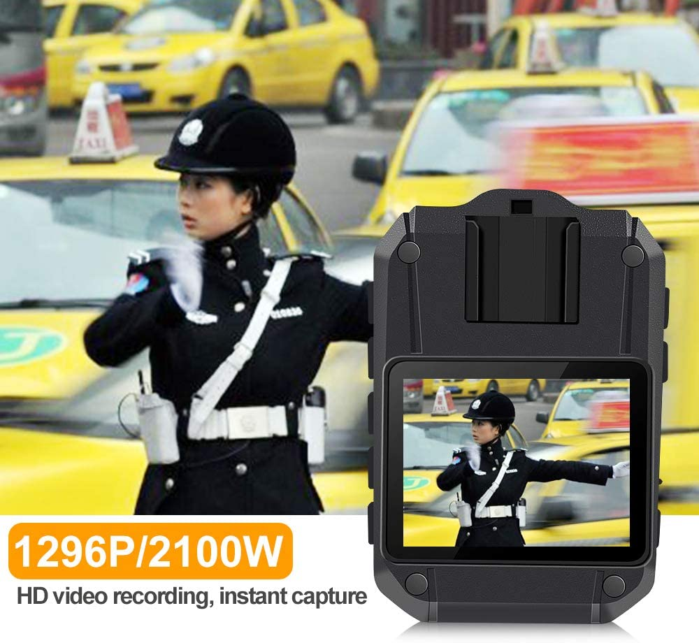 Body Camera,Police Body Camera for Law Enforcemnt,Waterproof Body Camera,1296P UHD,170° Wide Angle,Body Camera with Audio and Night Vision,Wearable Body Camera (Built-in 32GB)