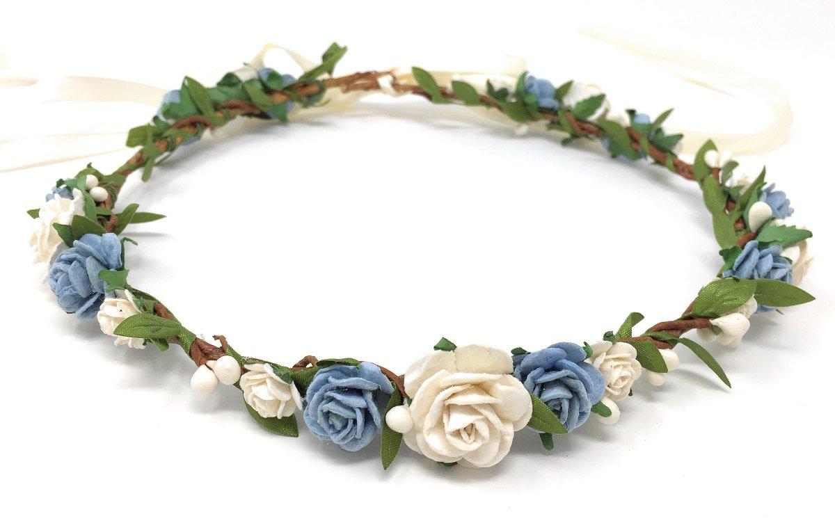 flower hair accessories Mauve dark purple white flower crown flower headpiece for girls wedding floral hair wreath