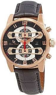 Men's LP-40045-RG-01 Bosporus Analog Display Quartz Black Watch