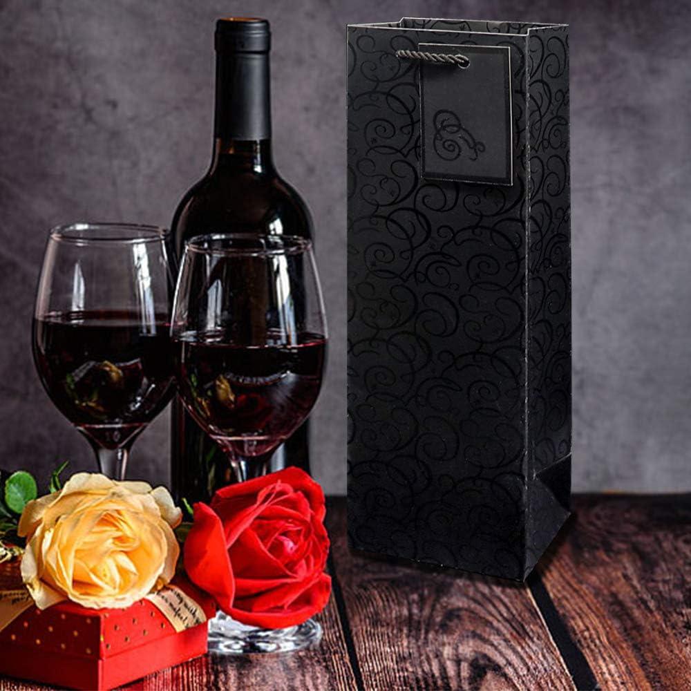 pour Toutes Les Occasions Sacs de Bouteille de Vin avec Poign/ées de Corde Robustes CCUCKY 6 Pi/èces Sac-Cadeau de Vin Argent