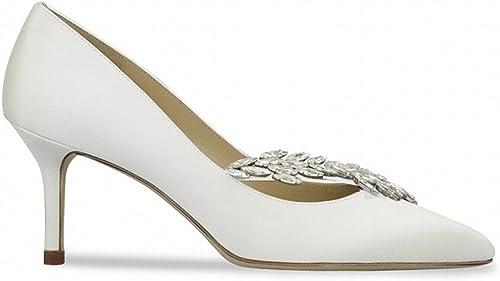 DIDIDD Chaussures de Demoiselle d'honneur à Talons Hauts avec des Petites Chaussures,Une,40